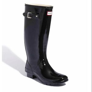 Hunter/Huntress Black Gloss Rain Boots